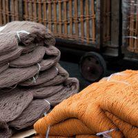 Textielgaren na het strengverven
